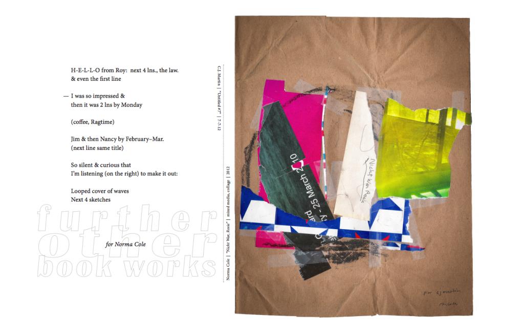 "Norma Cole & C.J. Martin | 2012 | 17"" x 22"" Archival Inkjet Print"