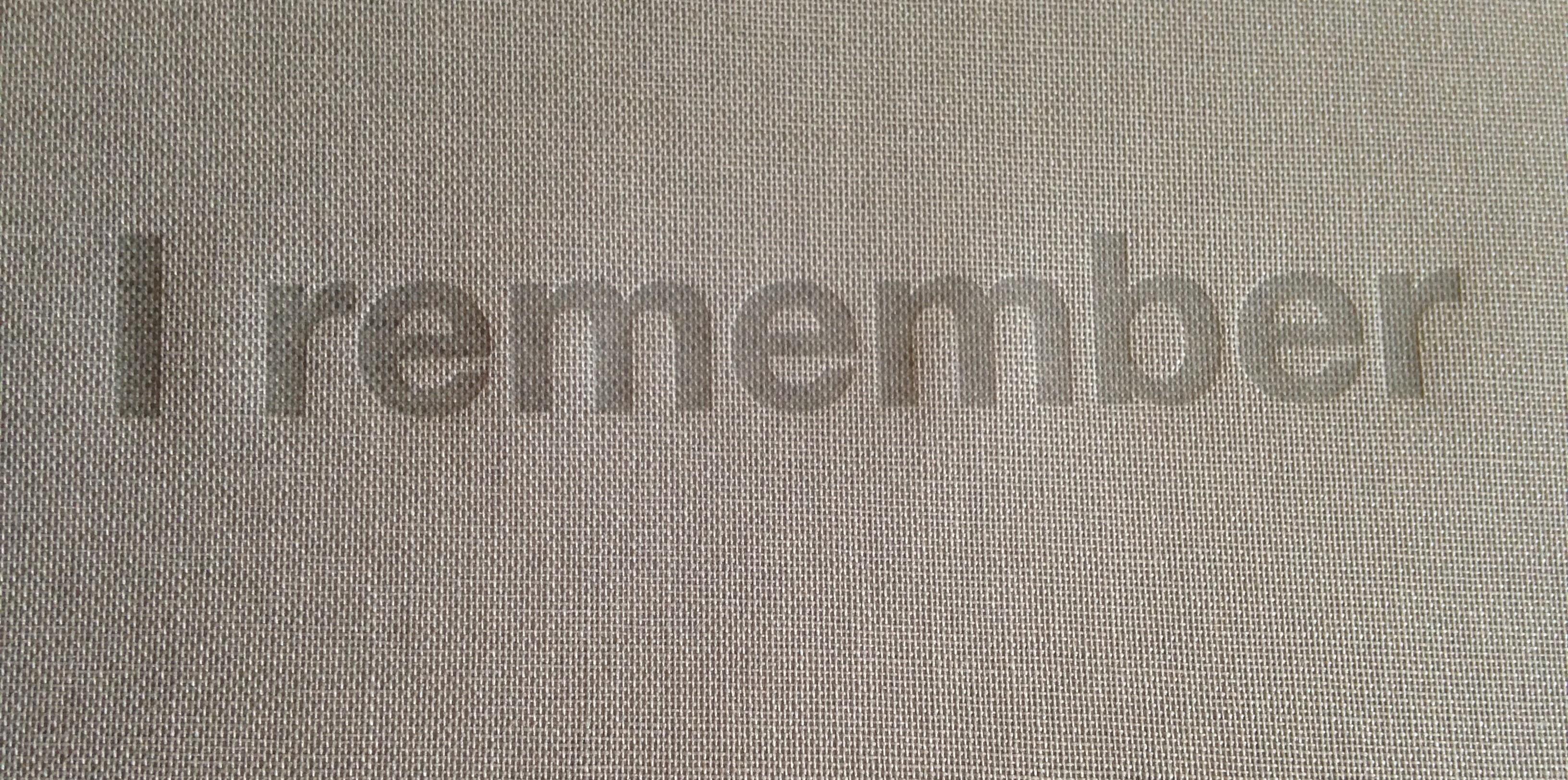 polymer blind stamp on Iris bookcloth